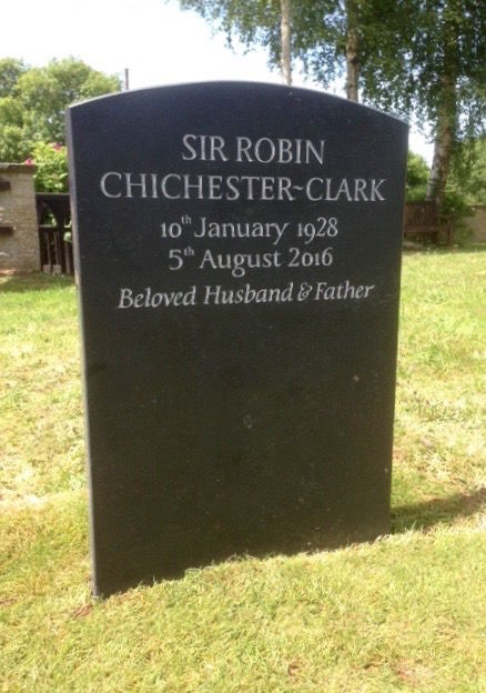 Sir Robin's headstone