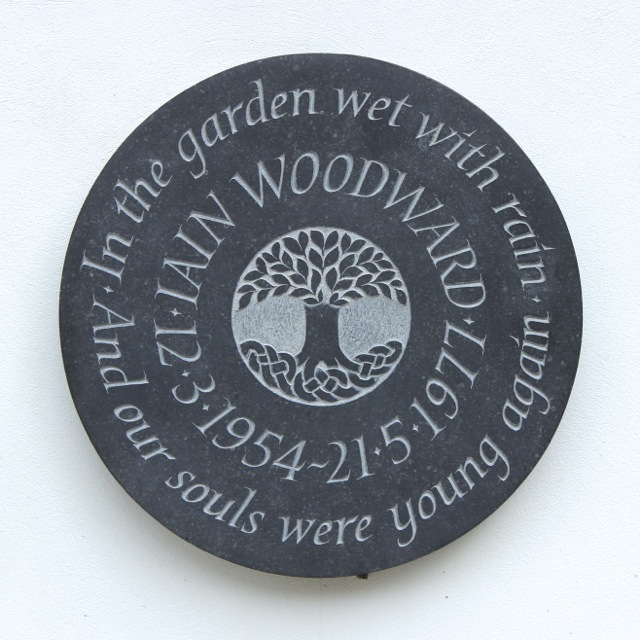 Iain Woodward's Cremation Tablet