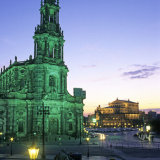 dresden - cathedral and semperoper