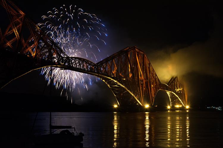 Forth bridge fireworks 3