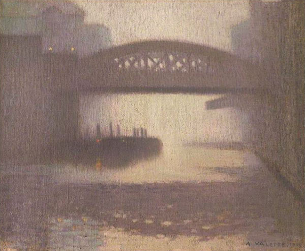 Adolphe Valette - Windsor Bridge on the Irwell 1909