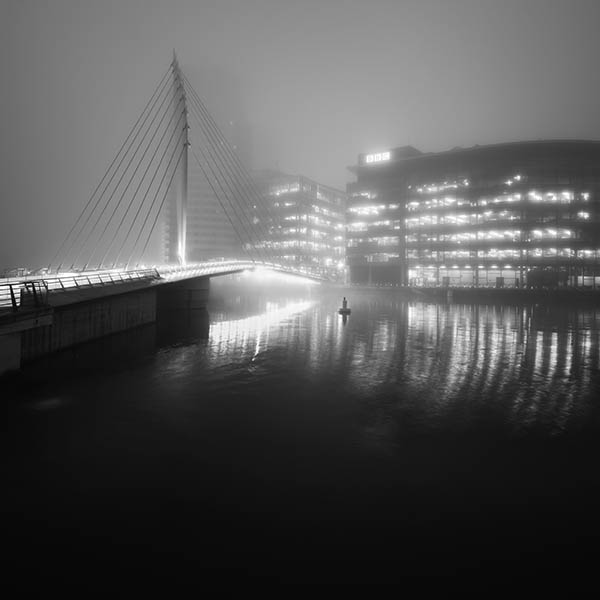 Media City Footbridge at Night