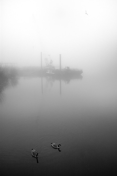 Manchester Ship Canal in Winter