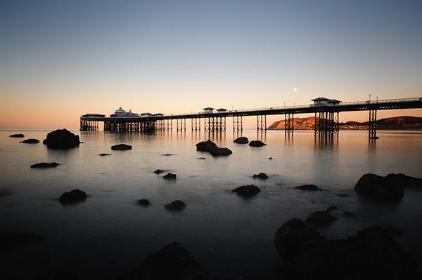 Moonrise - Llandudno Pier