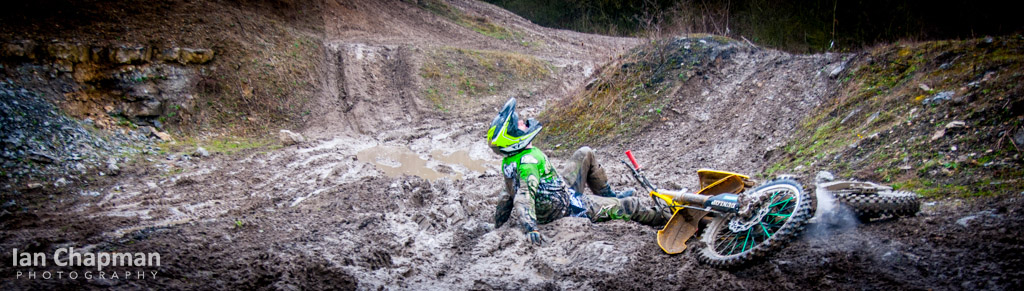 Down and dirty in the mud at a Lincolnshire Moto X track