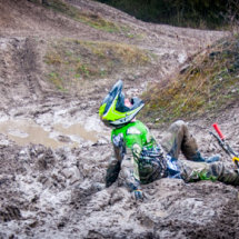 I fell off! Down and dirty in the mud at a Lincolnshire Moto X track