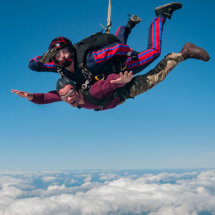 Tandem jump over the UK