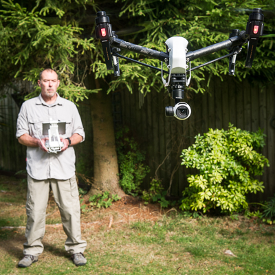 Ian with Drone