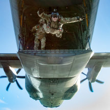 Tailgate freefall exit from a Hercules over Germany