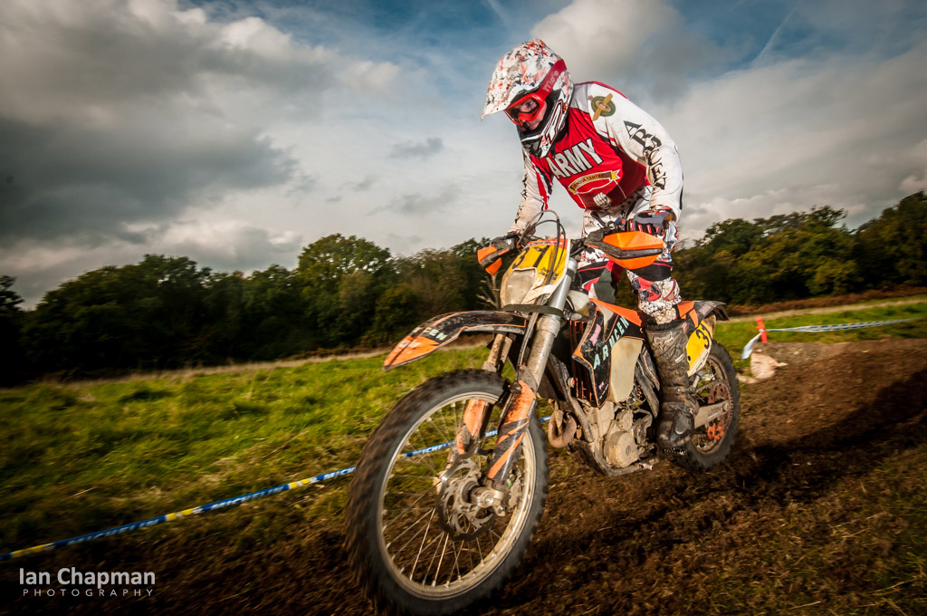 Competitor at the Army Enduro Championships, Aldershot