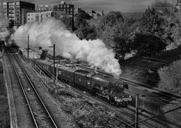 60103 FLYING SCOTSMAN EXITS COPENHAGEN TUNNEL