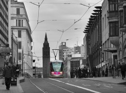 TRAM BREASTS RISE -CORPORATION STREET