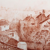 Frenchay Village - Drypoint Print