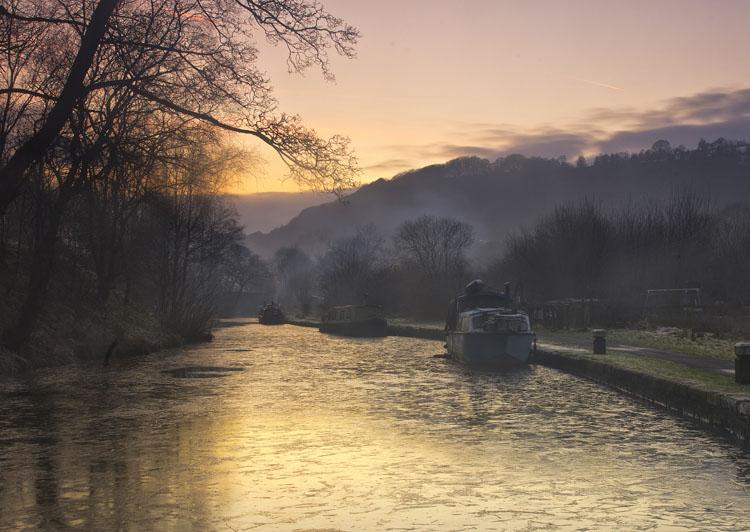 Dusk Rochdale Canal