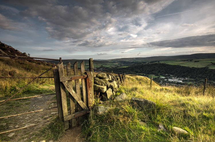 Gate on the Calderdale Way