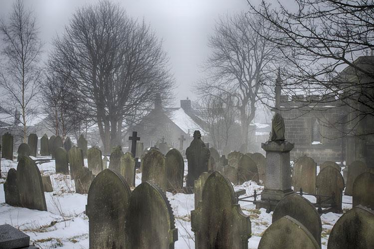 Heptonstall Churchyard Winter