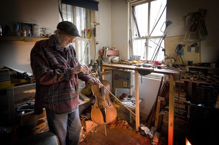 Ken in his Workshop