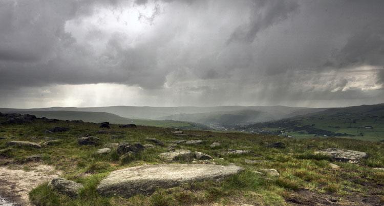 Rain over Todmorden