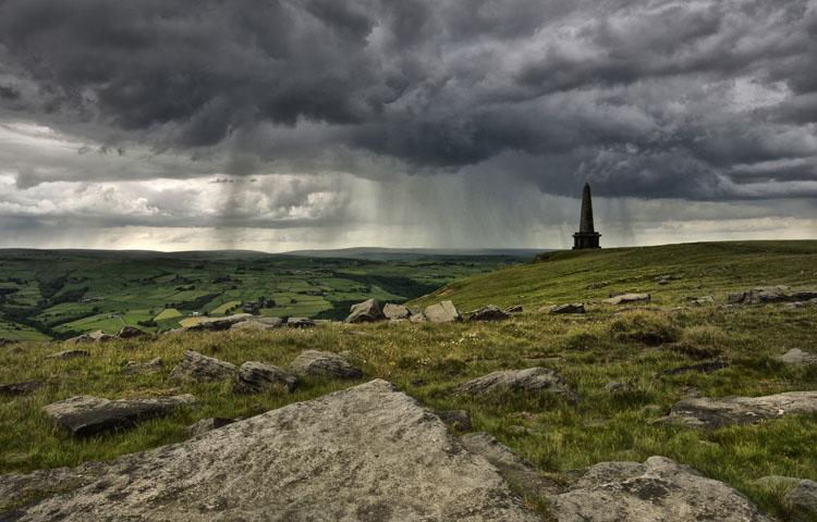 Rain at Stoodley Pike