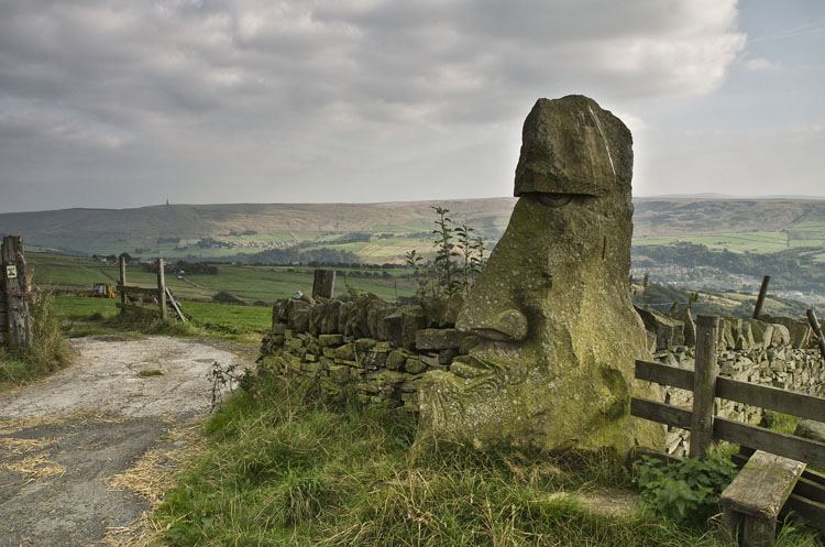 Stone Head Above Todmorden