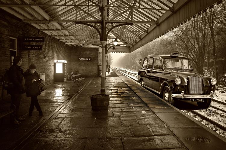 Taxi at Station