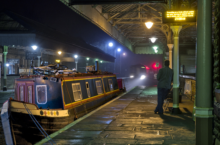 The Night Boat with Train