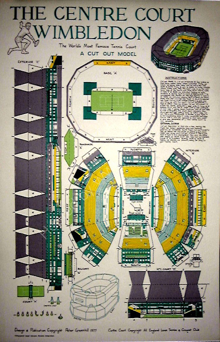 Centre Court, Wimbledon. Card Cut-out