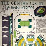 Centre Court, Wimbledon. Card Cut-out