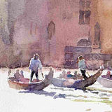 Gondolas on the Grand Canal, Venice - sold