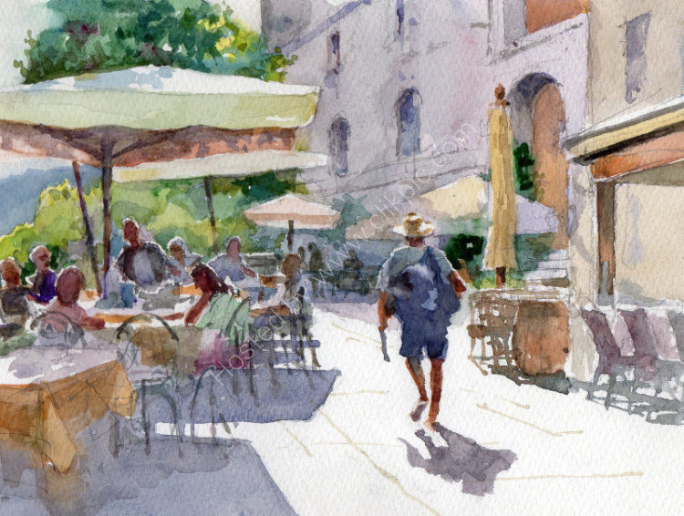 Lunchtime, Marciana, Elba - <B><FONT color =&quot;red&quot;>sold</FONT></B>