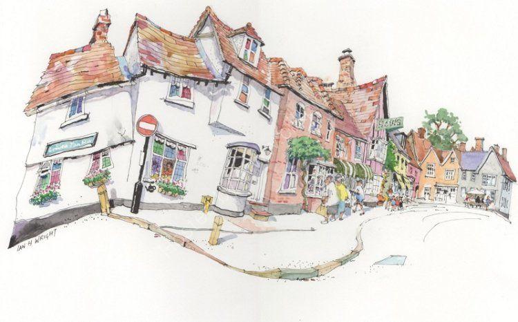 Market Street, Lavenham, Sufffolk