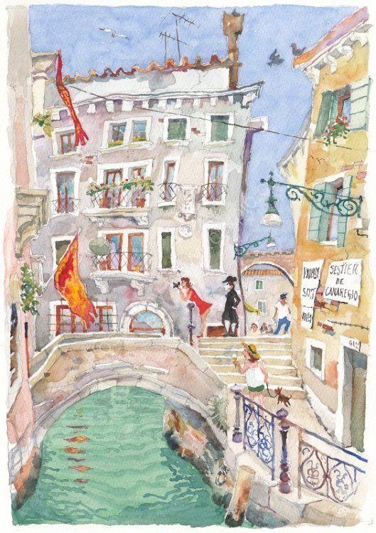 """Ponte del Cristo, Venice - <B><FONT color =""""red"""">sold</FONT></B>"""