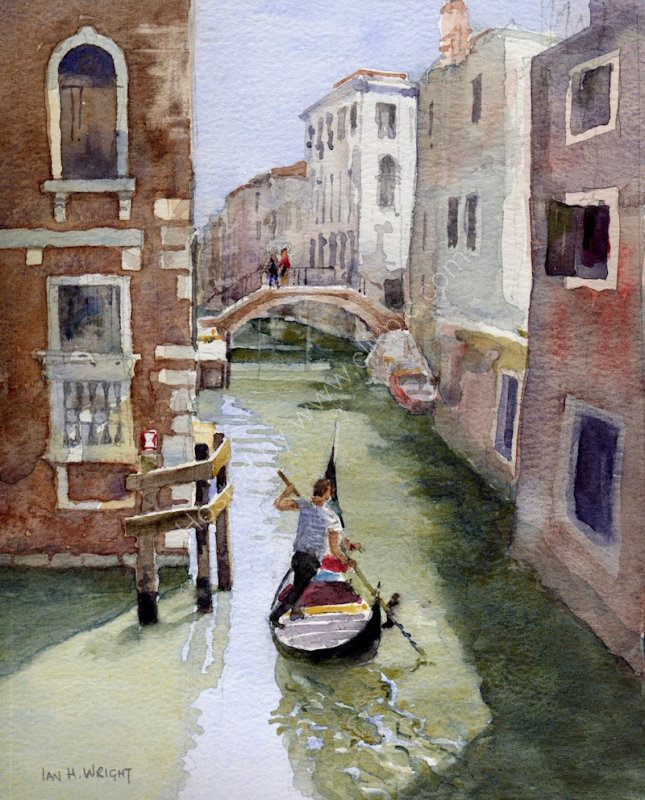 """Quiet canal, Venice - <B><FONT Color = """"red"""">sold</FONT></B>"""
