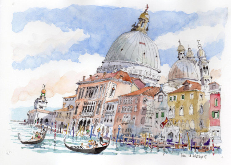 "Domes of the Salute, Venice - <B><FONT color =""red"">sold</FONT></B>"