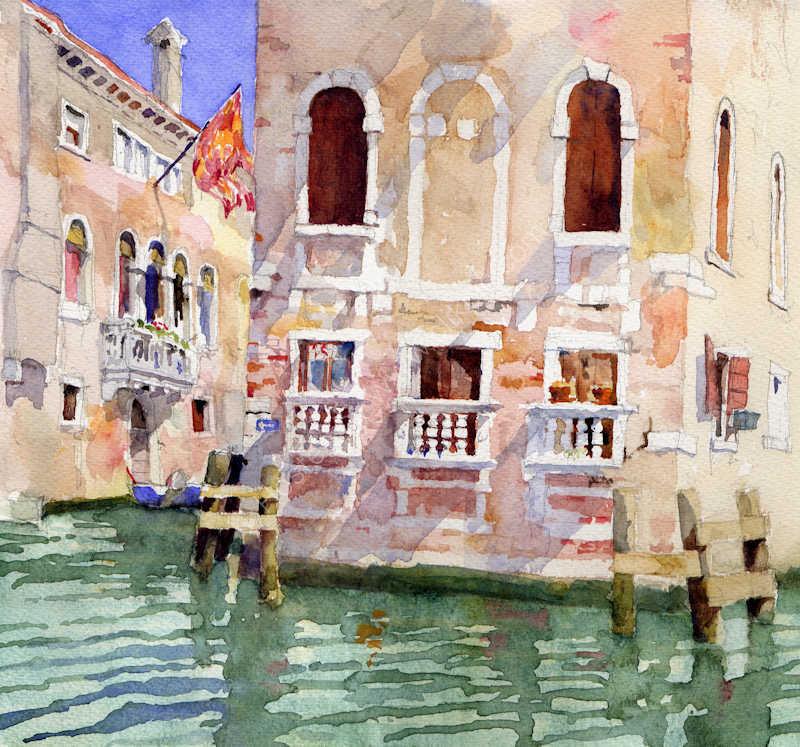 Sunny canal, Venice