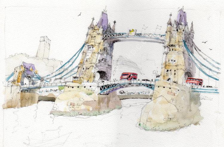 Tower Bridge - Urban sketch