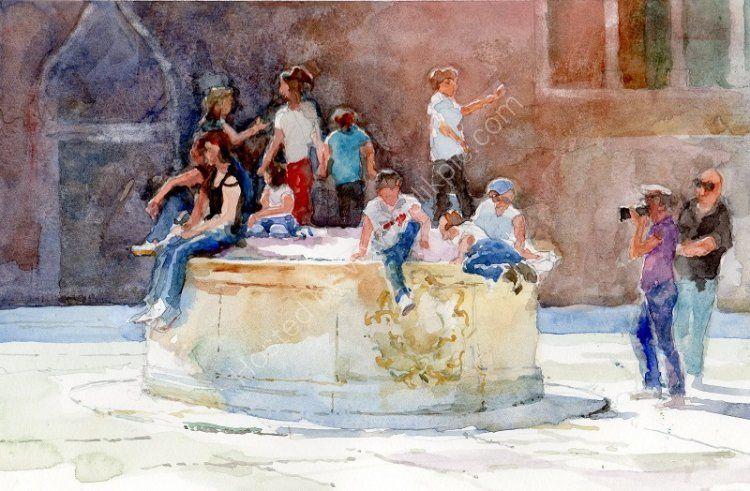Well used Venetian Well
