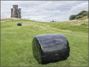 Bales and tower