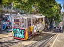 Colourful tramcar