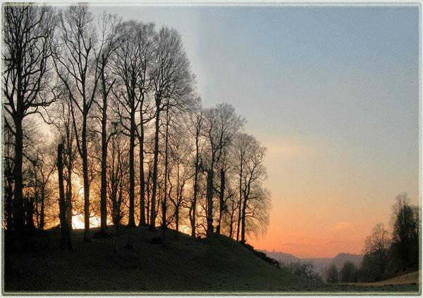 Dinefwr winter sunset