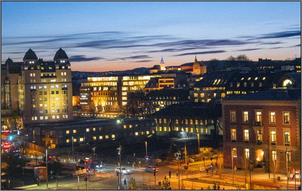 Oslo at sundown