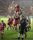 Scarlets win lineout ball - Silver medal & HM Bengal