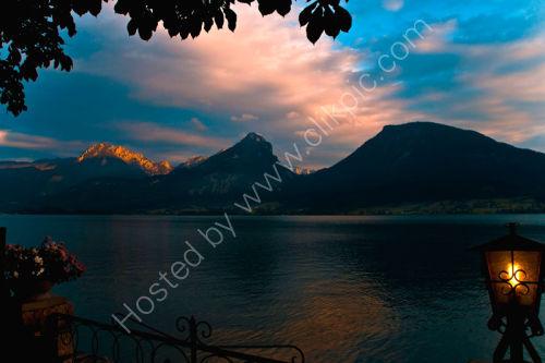 Sunset Lake Fuschel.Austria.