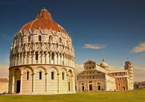 Duomo and Pisa leaning tower.