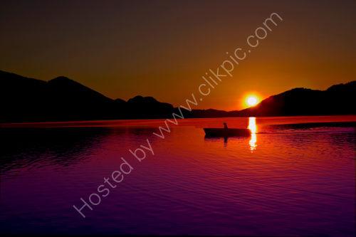 Lone Fisherman. Lake Fuschel.