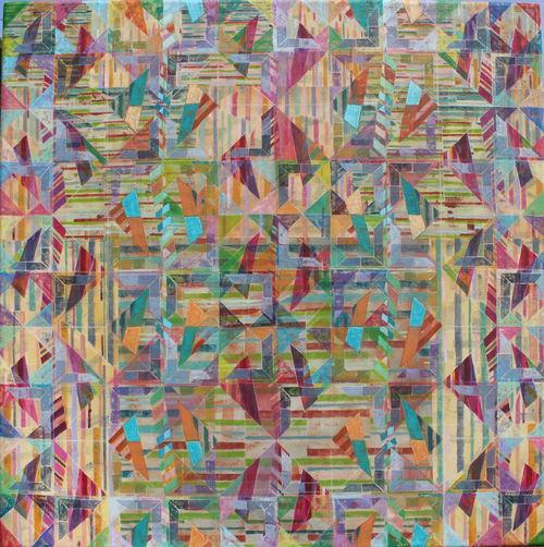 'AUTUMN WALK'  WEST DORSET  Acrylic on Canvas  90 x 90 cms