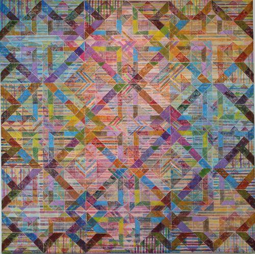 'CLOVELLY'  1 Acrylic on canvas 90 x 90cms