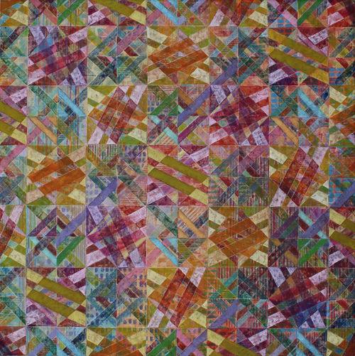 'CLOVELLY 2' 18   Acrylic on Canvas  90 x 90cms