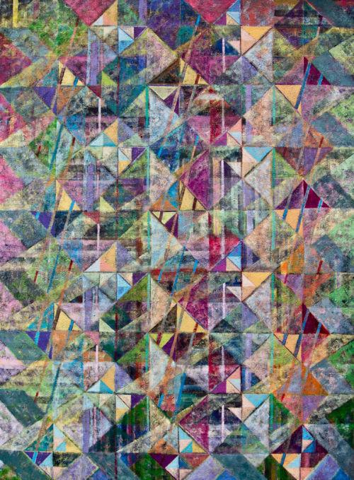 Summer Shower<br> Acrylic on Canvas<br> 122x91cms
