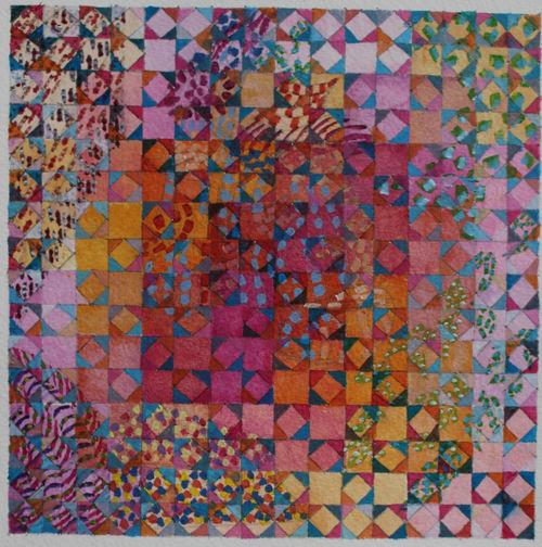 'AUTUMN WALK'  WD 2  Acrylic on Paper  20 x 20 cms